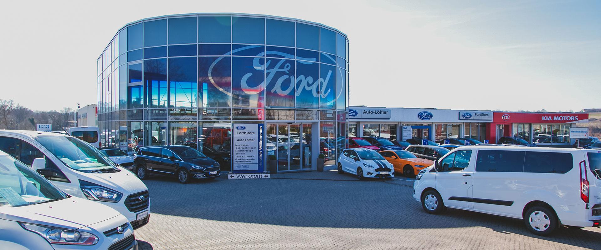 Ford Kia Standort Würzburg Aussenansicht
