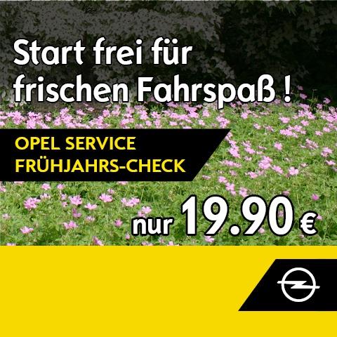 Opel Service Frühjahrs-Check
