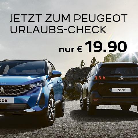 Peugeot Urlaubs-Check