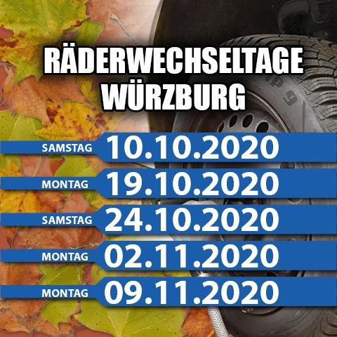 Räderwechseltage Würzburg 2020