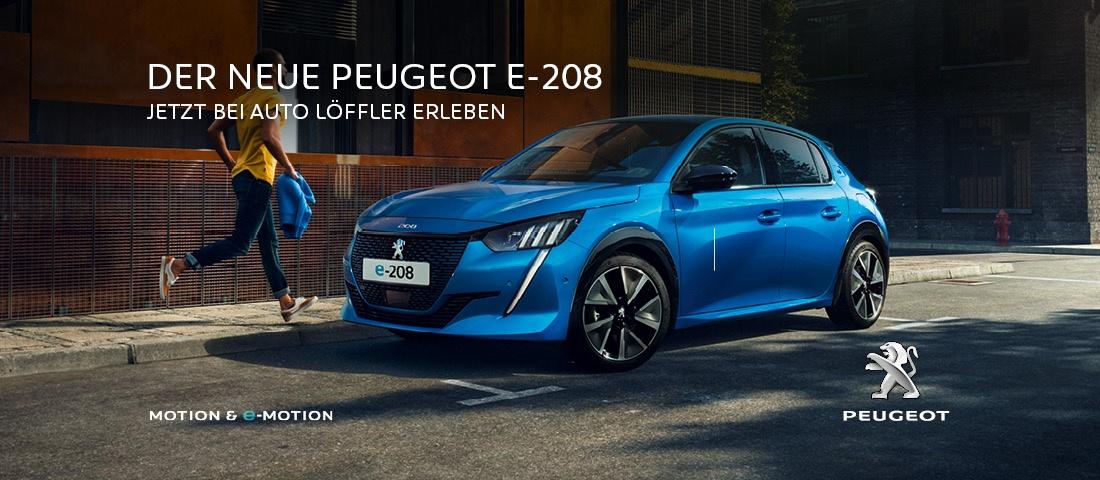 Der neue Peugeot e-208 - Jetzt bei Auto Löffler erleben