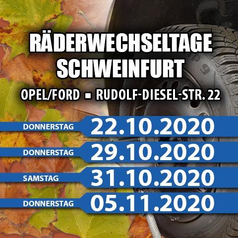 Räderwechseltage bei Auto Löffler Schweinfurt in der Rudolf-Diesel-Str. 22