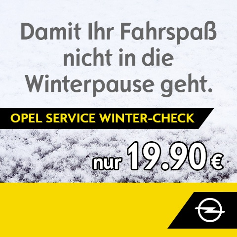 Opel Service Winter-Check