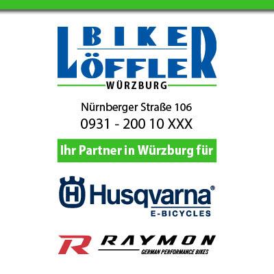 Jetzt Neu in Würzburg - Huqvarna und Raymon Bikes bei Löffler