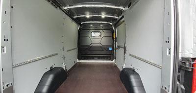 Transit Kasten Innenraum